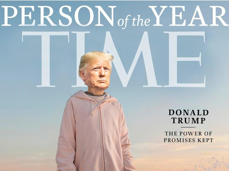 yahoo.com - Trump's team photoshops his face over Greta Thunberg's on Time Person of the Year cover