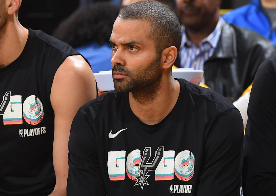 Tony Parker played 17 seasons with the Spurs. (AP)