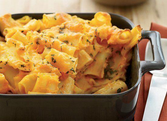"""<strong>Get the <a href=""""http://www.huffingtonpost.com/2011/10/27/carrot-macaroni-and-chees_n_1058274.html"""" target=""""_hplink"""">Carrot Macaroni and Cheese recipe</a> from Food & Wine</strong>"""
