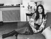 <p>Ali MacGraw relaxes on the couch in her apartment in 1971, during a major year in her career (she was nominated for an Academy Award for her role in <em>Love Story</em>).</p>