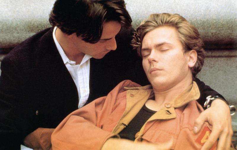 Keanu Reeves and River Phoenix in My Own Private Idaho in 1991