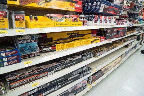 PHOTO: Walmart in Fort Worth, Texas sells a variety of rifles BB's, and ammunition, June 26, 2015. (Barbara Alper/Getty Images, FILE)
