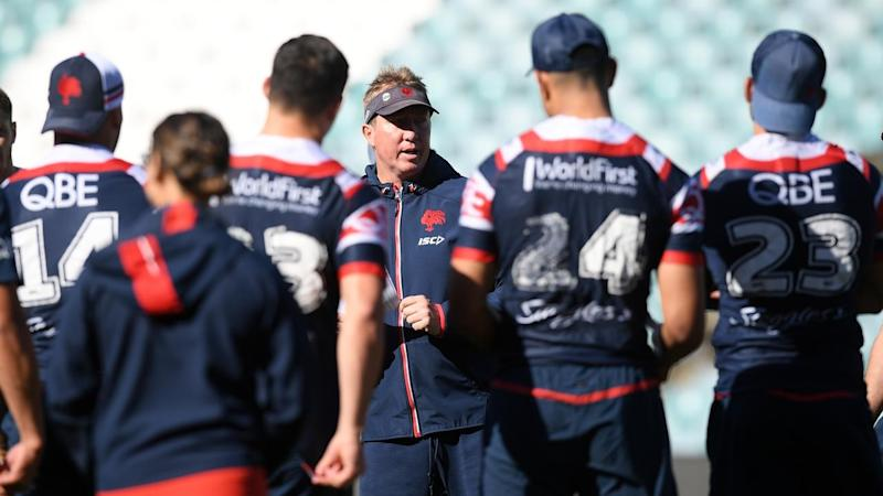 NRL ROOSTERS TRAINING