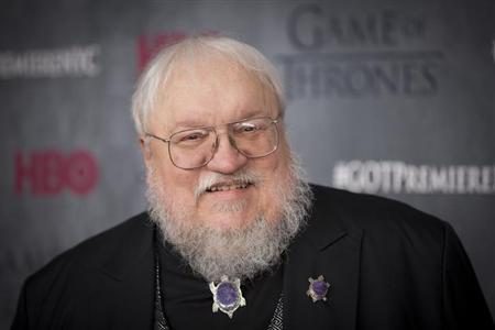 """Author and co-executive producer George R.R. Martin arrives for the premiere of the fourth season of HBO series """"Game of Thrones"""" in New York March 18, 2014. REUTERS/Lucas Jackson"""