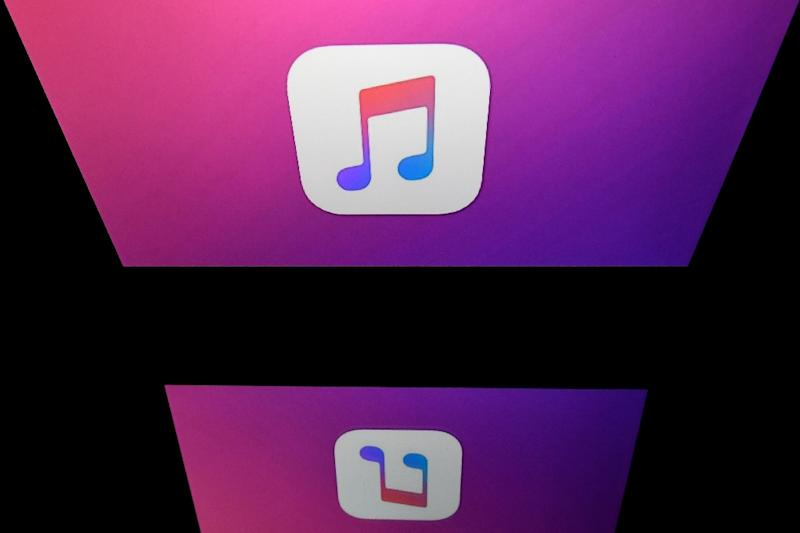 The logo of the iTunes app, which transformed the way people buy and listen to music after its launch in 2001 (AFP Photo/Lionel BONAVENTURE)