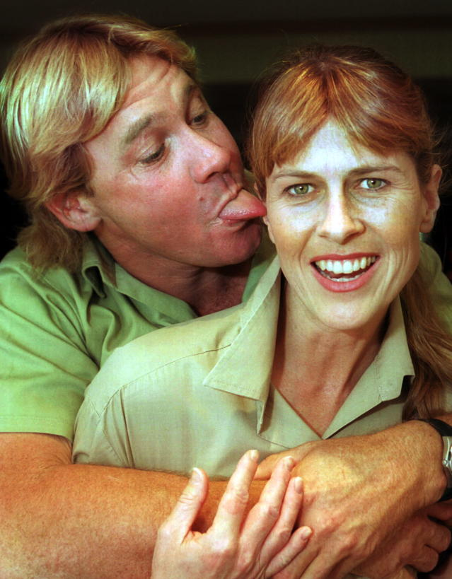 Steve and Terri Irwin were married for 14 years before he died in 2006. (Photo: Getty Images)