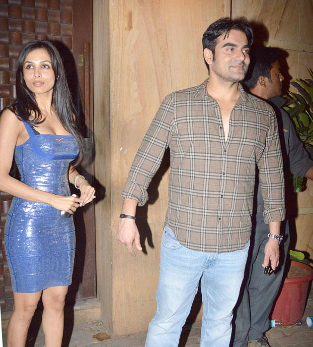 Malaika and Arbaaz arrive for the bash