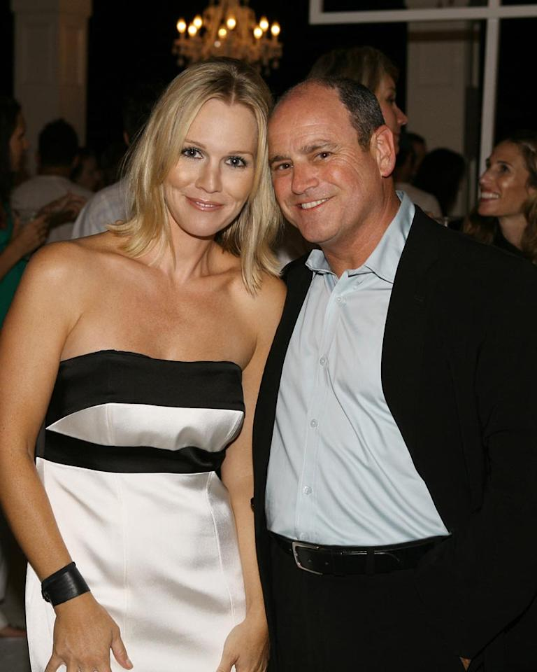 "Jennie Garth and David Stapf (President, CBS Paramount Network Television) at the <a href=""/90210/show/43006"">""90210""</a> Launch Party on Saturday, 8/23 in Malibu, California."