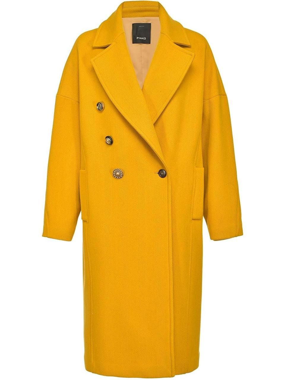 <p>You'll make an entrance in this <span>Pinko Straight-fit Coat</span> ($597, originally $995). Get ready for all the compliments.</p>