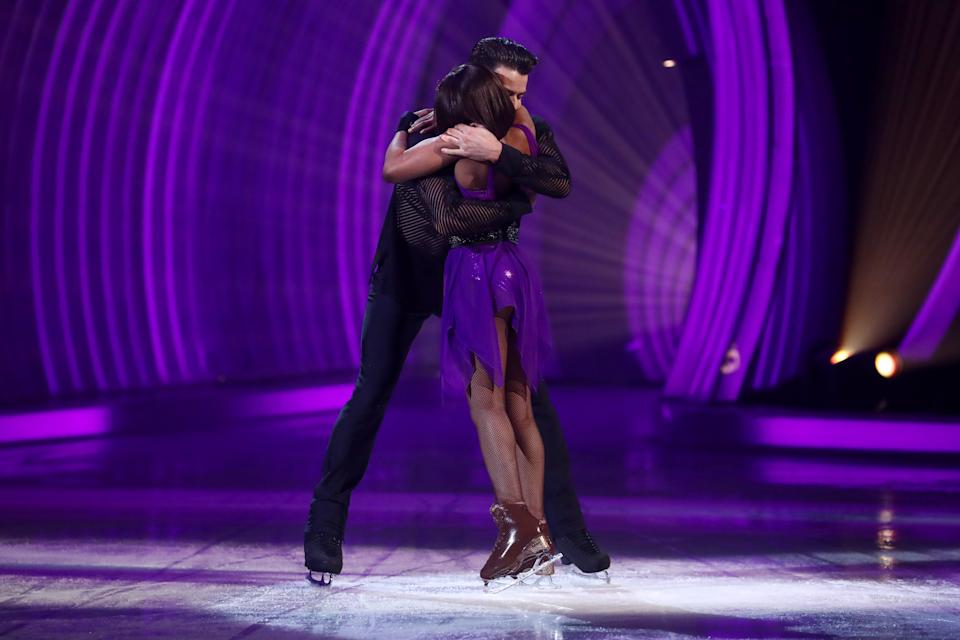 Editorial use only Mandatory Credit: Photo by Matt Frost/ITV/Shutterstock (11789729fo) Lady Leshurr and Brendyn Hatfield skating to 'No One' 'Dancing On Ice' TV show, Series 13, Episode 7, Hertfordshire, UK - 07 Mar 2021
