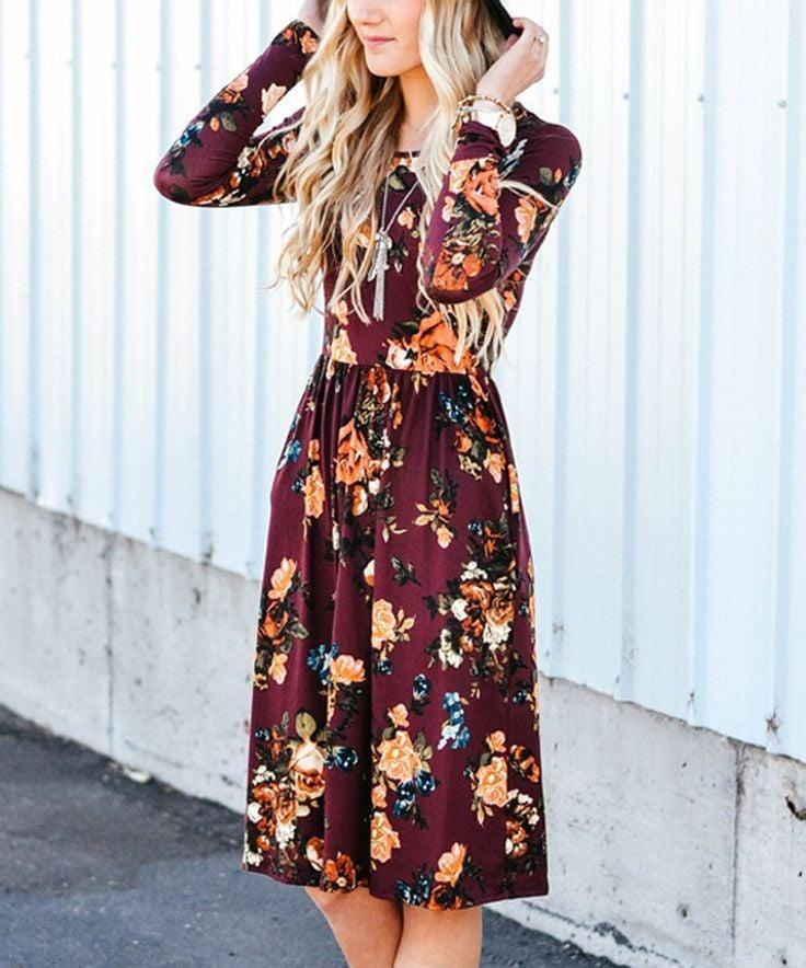 <p>The best part of this <span>Zesica Long-Sleeve Floral Dress</span> ($20-$31) is that it has pockets.</p>