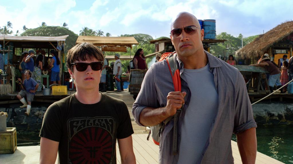 """Josh Hutcherson and Dwayne Johnson in Warner Bros. Pictures' <a href=""""http://movies.yahoo.com/movie/journey-2-the-mysterious-island/"""">Journey 2: The Mysterious Island</a> - 2012"""