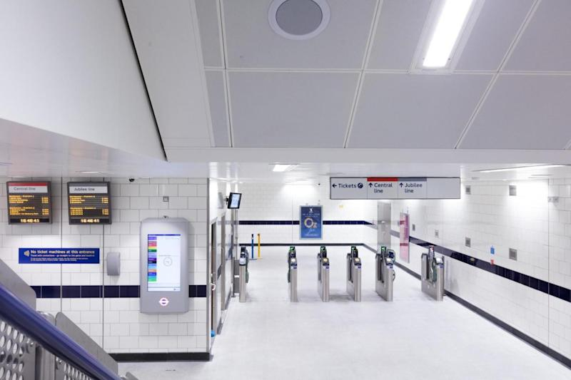 The new entrance at the station, which is expected to see 225,000 people a day from next December. (TfL)