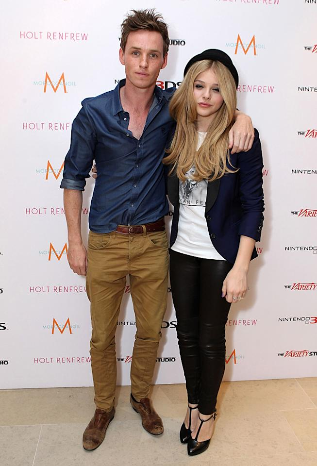 "<a href=""http://movies.yahoo.com/movie/contributor/1809675503"">Eddie Redmayne</a> and <a href=""http://movies.yahoo.com/movie/contributor/1808549150"">Chloe Moretz</a> at the 2011 Toronto Film Festival on September 10, 2011."