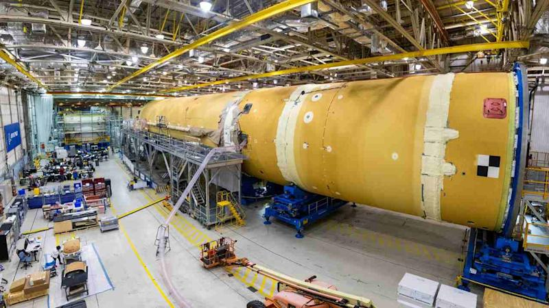 This is the core stage for NASA's Space Launch System (SLS) rocket. image credit: NASA