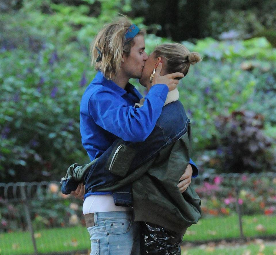 """<p>Justin Bieber and Hailey Bieber (Baldwin) first met in 2009 when Hailey was only 12 and was at a fan event with her dad. In 2016, the two dated and rang in the new year together <a href=""""https://www.instagram.com/p/BAGLktogvj2/?utm_source=ig_embed"""" rel=""""nofollow noopener"""" target=""""_blank"""" data-ylk=""""slk:with a kiss"""" class=""""link rapid-noclick-resp"""">with a kiss</a>. They went their separate ways that year, and Justin went on to date Sofia Richie and then Selena Gomez again. In June 2018, Justin rekindled things with Hailey. By September 2018, Hailey and Justin were married. </p>"""