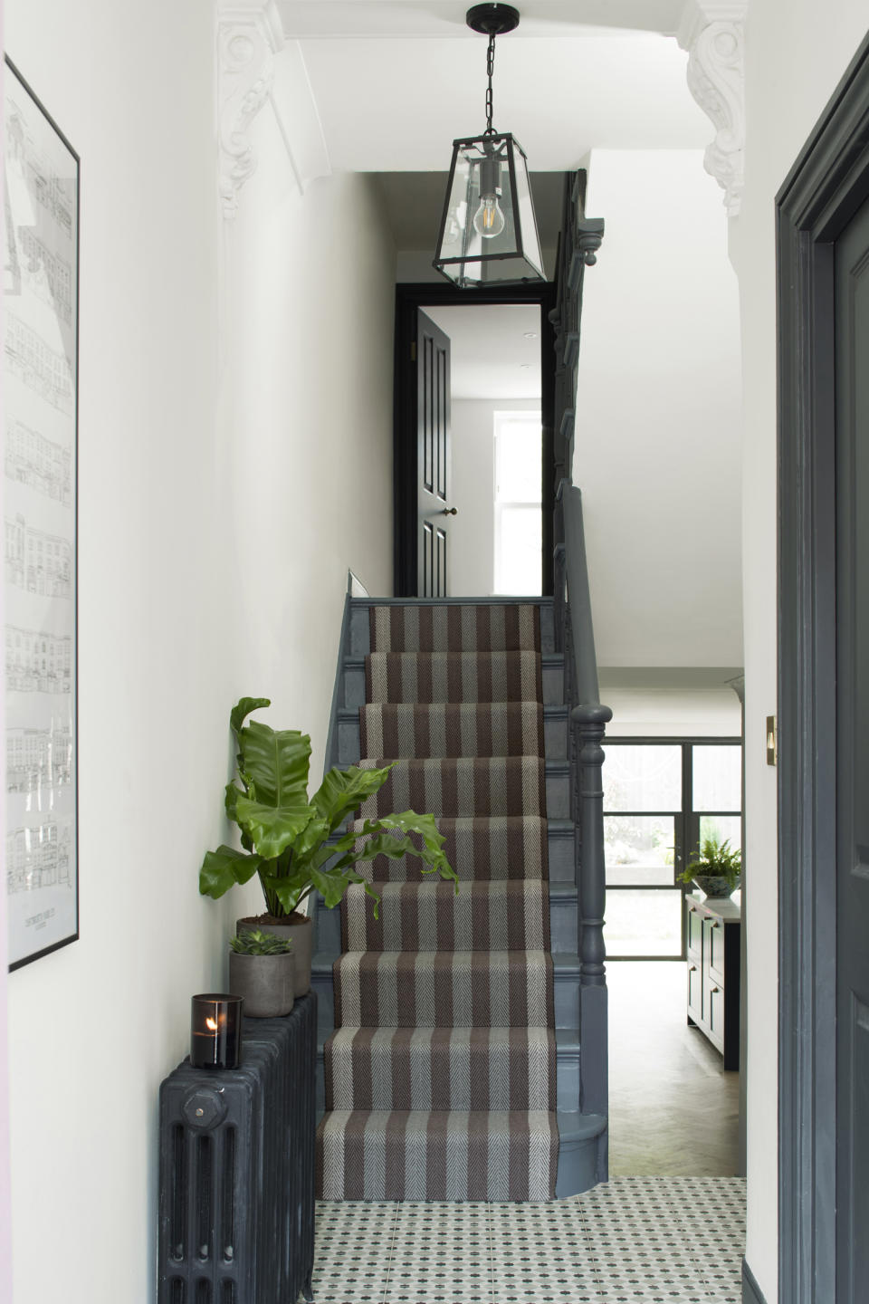 Staircase ideas - patterned runner