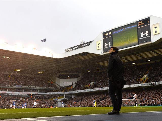 Pochettino will be the last ever Spurs manager to lead his team out at the Lane: Getty