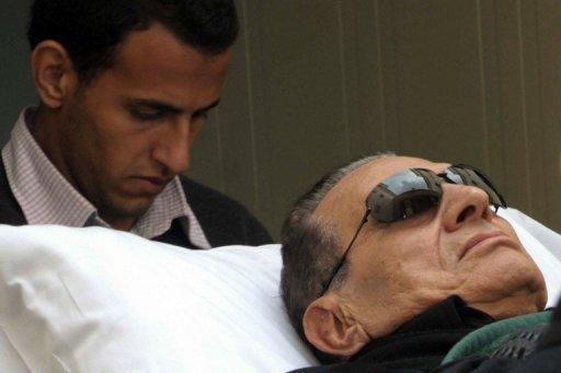 Ousted Egyptian President Hosni Mubarak, pictured in January