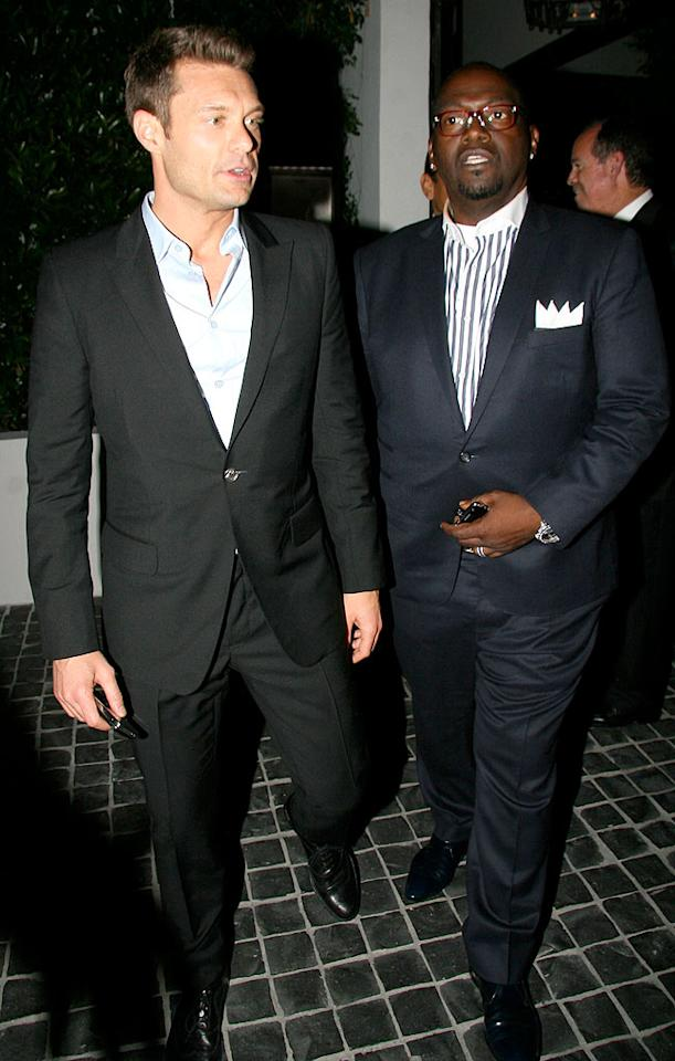 "Although Simon Cowell was a no-show, Ryan Seacrest and Randy Jackson made a dapper duo. AlphaX/<a href=""http://www.x17online.com"" target=""new"">X17 Online</a> - May 21, 2009"