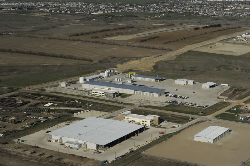 The Baker Hughes campus sits mostly empty in Williston