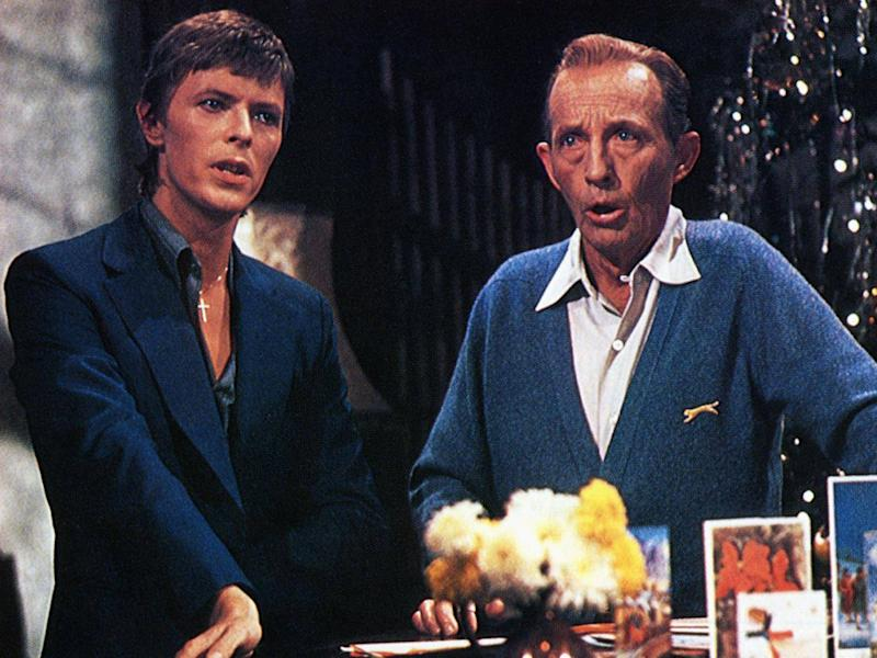 No Christmas hits video package is complete without David Bowie paying his 'impromptu' visit to a clearly baffled Bing Crosby (Redferns)