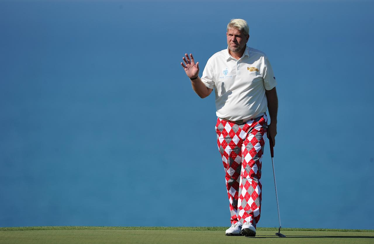 John Daly earned between $50 and $60 million during his career as a two-time PGA Major champion. But he gambled most of it away, according to his autobiography. Daly also once lost $1.65 million in five hours playing slot machines. His $1.6 million house was foreclosed on in early 2009. The 7,671-square-foot home had four bedrooms and sat on 2.11 acres.
