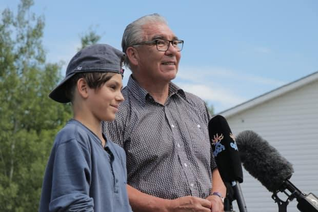 Landyn Toney and Glooscap First Nation Chief Sidney Peters spoke about the impact of Landyn's awareness campaign.  (Jeorge Sadi/CBC - image credit)