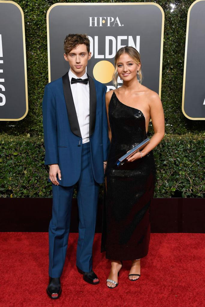 <p>Troye Sivan and Sage Sivan attend the 76th Annual Golden Globe Awards at the Beverly Hilton Hotel in Beverly Hills, Calif., on Jan. 6, 2019. (Photo: Getty Images) </p>
