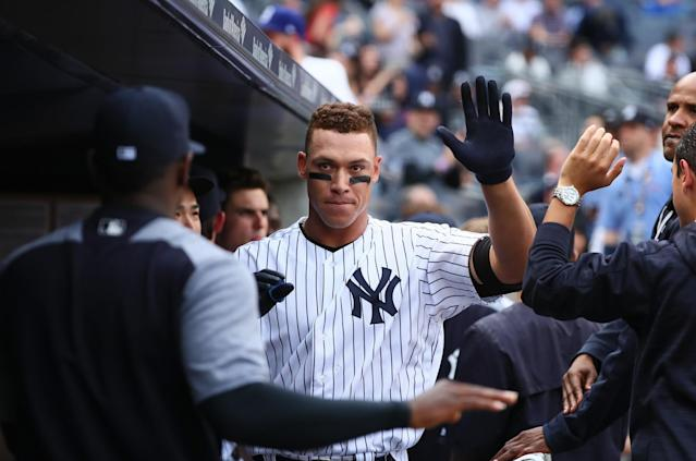 Aaron Judge has homered in three straight games for the Yankees. (Getty)