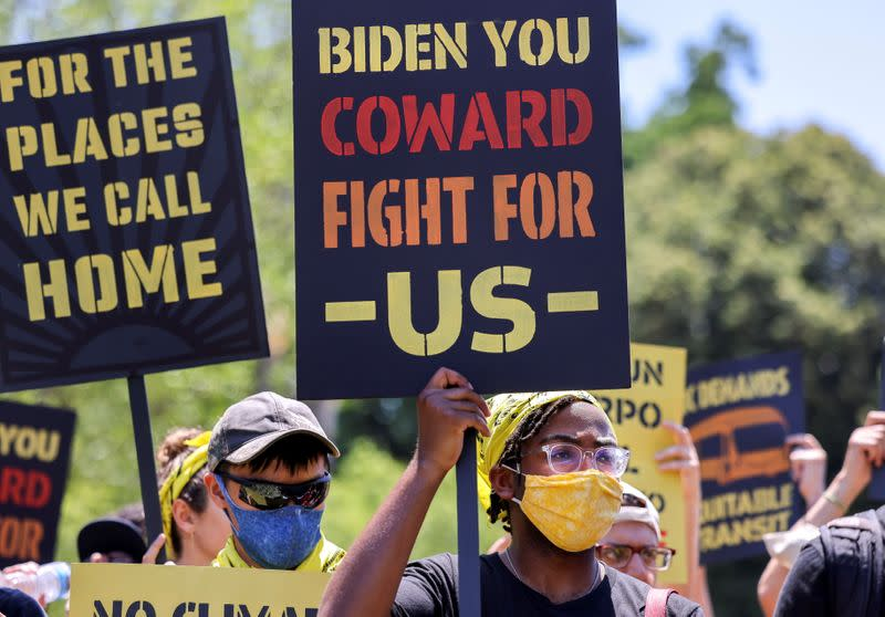 FILE PHOTO: Environmental activists march on White House over climate change, in Washington