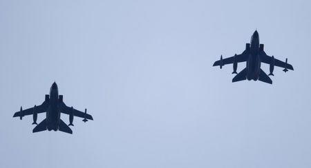 German air force Tornado jets approach to land at an airbase in Incirlik
