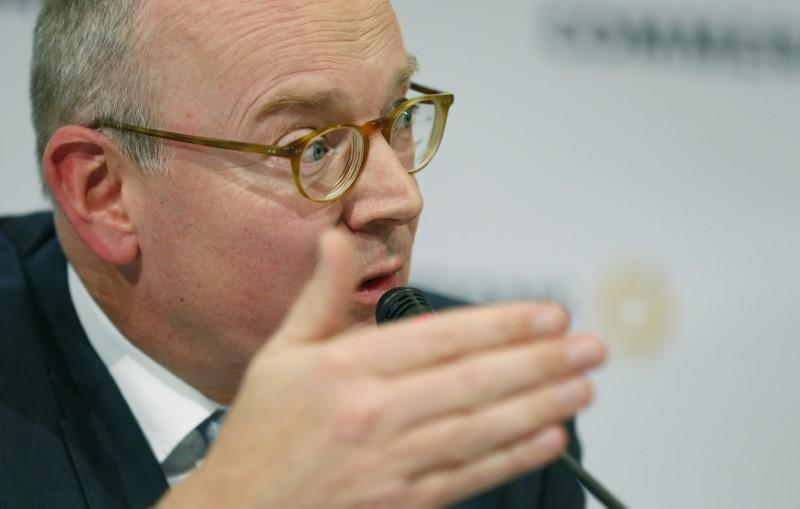 Commerzbank Chief Executive Blessing attends the bank's annual news conference in Frankfurt