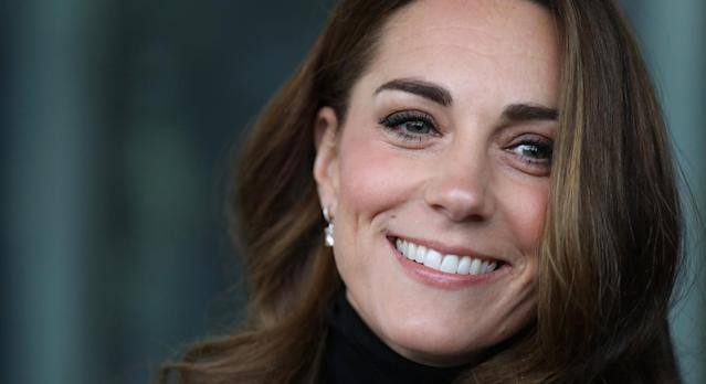 The Duchess of Cambridge attended the Tusk Awards reception at Kensington Palace yesterday. [Photo: Getty]