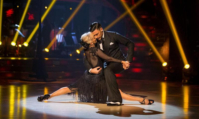 Debbie McGee dances the Argentine Tango with her dance partner Giovanni Pernice