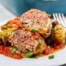 "<p>Stuffed cabbage might not be a regular in your recipe rotation, but give these a try. As one reviewer said, ""I am wondering why in my 47 years I have never cooked cabbage rolls. These were absolutely amazing."" </p><p><strong><em>Get the recipe at <a href=""https://www.delish.com/cooking/recipe-ideas/a30779229/keto-stuffed-cabbage-recipe/"" rel=""nofollow noopener"" target=""_blank"" data-ylk=""slk:Delish"" class=""link rapid-noclick-resp"">Delish</a>. </em></strong></p>"