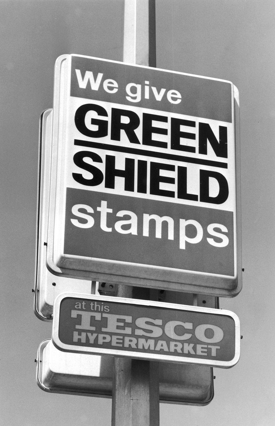 """<p>Think of green stamps like coupons on steroids. The <a href=""""https://flashbak.com/livin-the-dream-with-green-stamps-a-1975-catalog-26187/"""" rel=""""nofollow noopener"""" target=""""_blank"""" data-ylk=""""slk:loyalty program, established by Sperry and Hutchinson"""" class=""""link rapid-noclick-resp"""">loyalty program, established by Sperry and Hutchinson</a>, allowed shoppers to collect stamps at their local grocery and trade them in for items in the S&H catalog. Green stamps were huge in the '70s — <em>The Brady Bunch</em> even did an episode about them — but the trend faded by the '80s.</p>"""