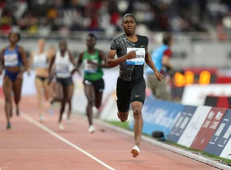 FILE PHOTO: Athletics - Diamond League - Doha - Khalifa International Stadium, Doha, Qatar - May 3, 2019 South Africa's Caster Semenya wins the women's 800m REUTERS/Ibraheem Al Omari/File Photo
