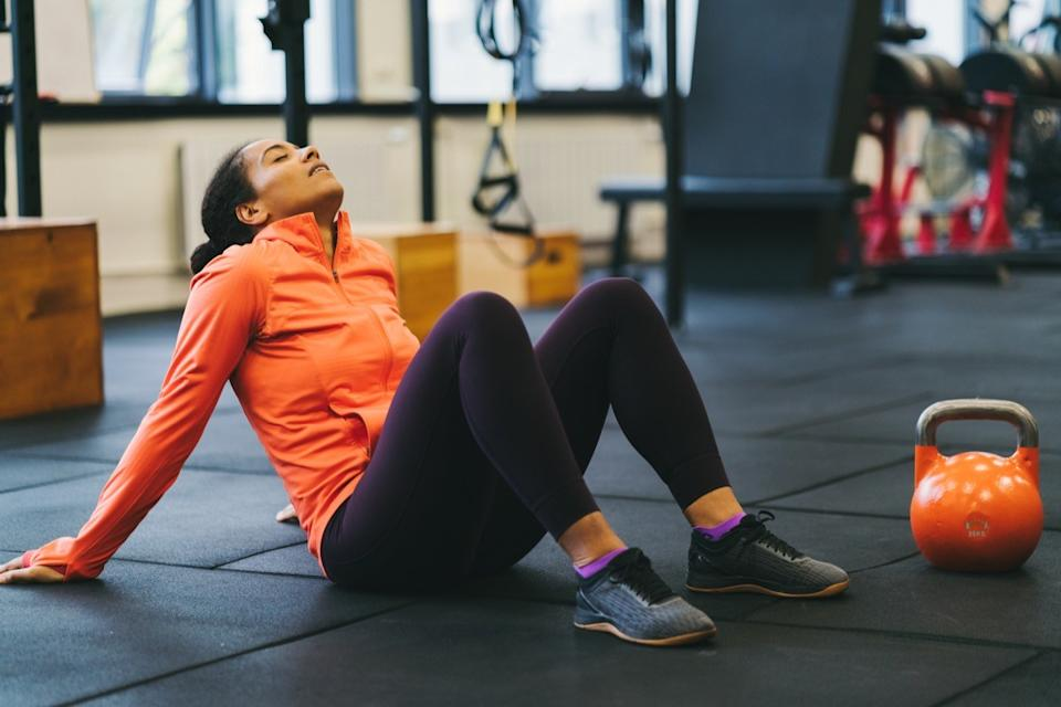 Woman tired after exercising