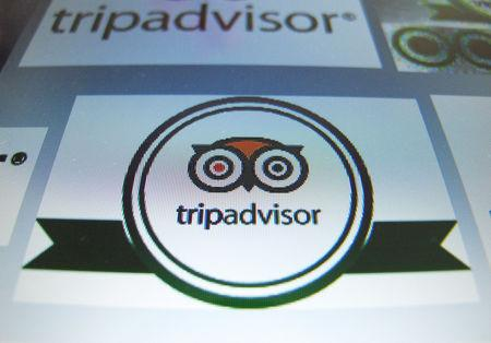 FILE PHOTO: The logo for travel website company TripAdvisor is shown on a computer screen