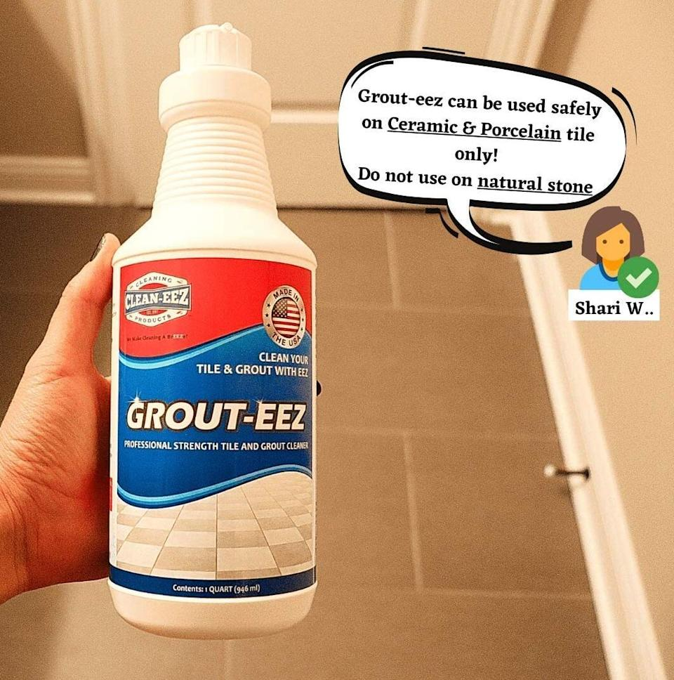 """A sparkly clean floor can go a long way in revitalizing your kitchen. The kit comes with two bottles of Grout-Eez and a scrubber you can attach to a standard mop or broom pole.<br /><br /><strong>Promising review:</strong>""""This is an excellent product.<strong>I have tried several grout cleaners over the past 15 years since the majority of our flooring has been ceramic tile. This product surpassed all of them. In fact, nothing has ever worked this quickly.</strong>The three best features included (1) the instructions on both the bottle and with the product were clear and I followed them to a tee, (2) the perfect brush that came with it that fit perfectly into my grout lines and was easy to attach to an existing handle and (3) how easily the soil was removed from the grout. I would recommend using this around one tile first and definitely wait the 10 minutes then wiggle the brush in the grout lines. The soil comes up quickly."""" —<a href=""""https://amzn.to/320i57x"""" target=""""_blank"""" rel=""""nofollow noopener noreferrer"""" data-skimlinks-tracking=""""5892474"""" data-vars-affiliate=""""Amazon"""" data-vars-href=""""https://www.amazon.com/gp/customer-reviews/R12P807J63D8C4?tag=bfdaniel-20&ascsubtag=5892474%2C13%2C33%2Cmobile_web%2C0%2C0%2C16507731"""" data-vars-keywords=""""cleaning"""" data-vars-link-id=""""16507731"""" data-vars-price="""""""" data-vars-product-id=""""20970427"""" data-vars-product-img="""""""" data-vars-product-title="""""""" data-vars-retailers=""""Amazon"""">Karen</a><br /><br /><strong>Get a set from Amazon for<a href=""""https://amzn.to/2PTa2a2"""" target=""""_blank"""" rel=""""nofollow noopener noreferrer"""" data-skimlinks-tracking=""""5892474"""" data-vars-affiliate=""""Amazon"""" data-vars-asin=""""B0721NFGC4"""" data-vars-href=""""https://www.amazon.com/dp/B0721NFGC4?tag=bfdaniel-20&ascsubtag=5892474%2C13%2C33%2Cmobile_web%2C0%2C0%2C16507704"""" data-vars-keywords=""""cleaning"""" data-vars-link-id=""""16507704"""" data-vars-price="""""""" data-vars-product-id=""""17990528"""" data-vars-product-img=""""https://m.media-amazon.com/images/I/41+uygteAzL.jpg"""" data-vars-product-title="""
