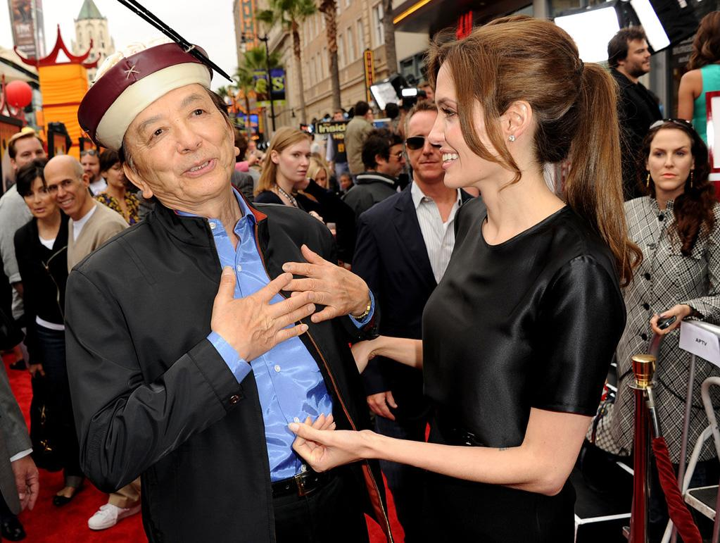"<a href=""http://movies.yahoo.com/movie/contributor/1800020802"">James Hong</a> and <a href=""http://movies.yahoo.com/movie/contributor/1800019275"">Angelina Jolie</a> attend the Los Angeles premiere of <a href=""http://movies.yahoo.com/movie/1810090593/info"">Kung Fu Panda 2</a> on May 22, 2011."