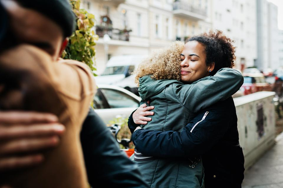 Hugging has many health benefits, both physical and mental. (Getty Images)