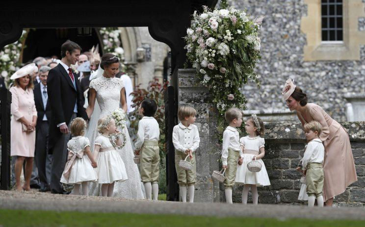 The Duchess of Cambridge showed off her mum skills on the big day [Photo: PA]