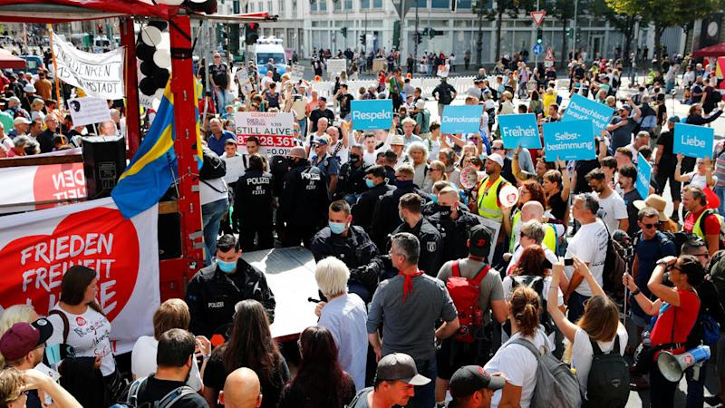 Berlin police disband mass protest against Covid-19 restrictions