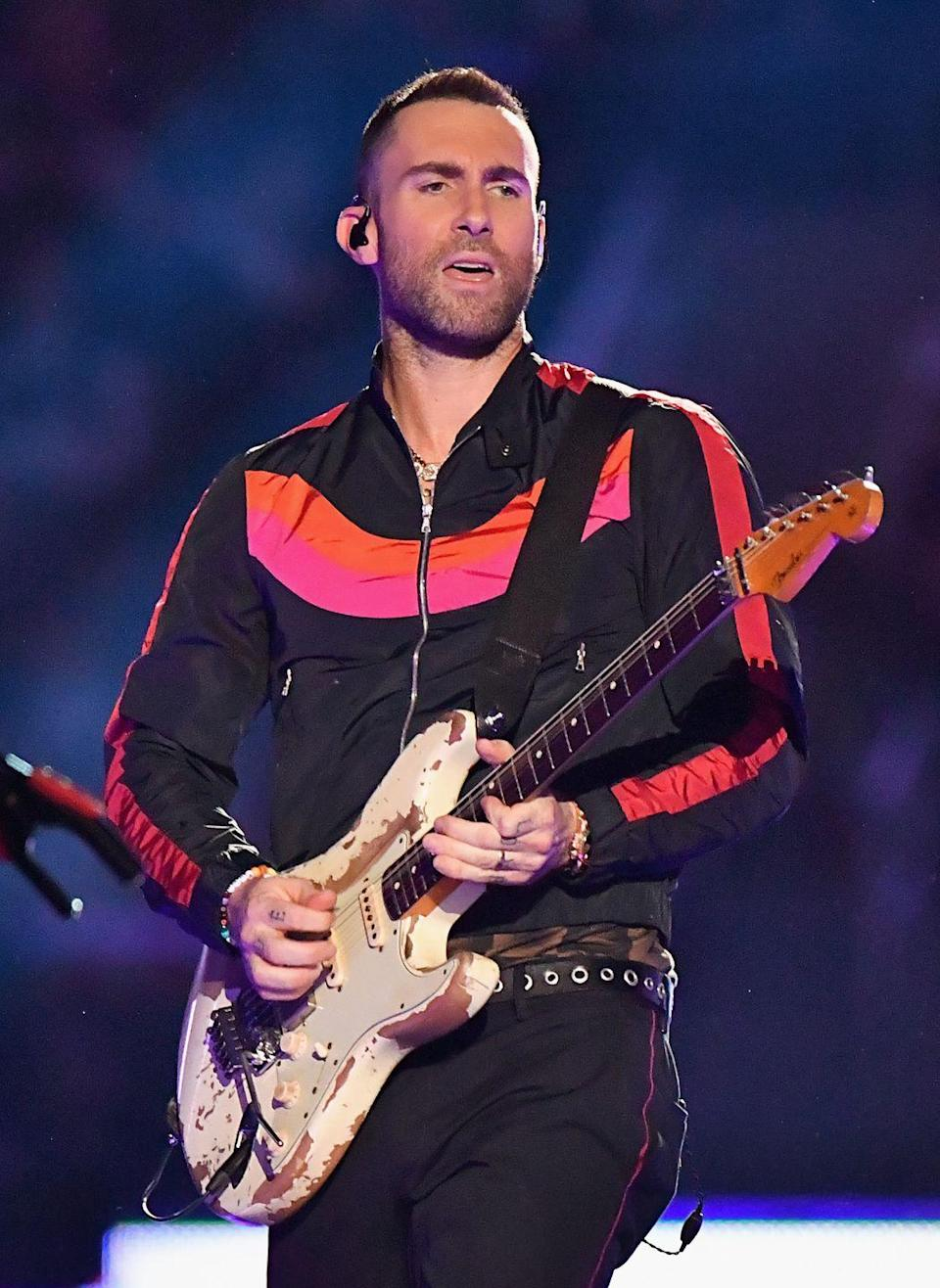 <p><strong>Hair</strong></p><p>From his sold-out concerts to sitting in the judges' chair on <em>The Voice</em>, Levine isn't afraid to experiment with fashion. </p>