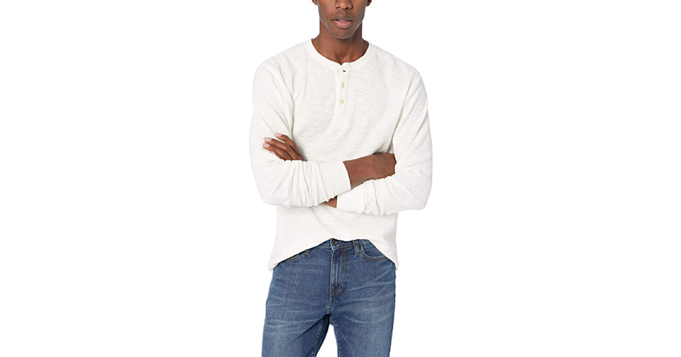 For those about to rock a fitted henley, we salute you.(Credit: Amazon)