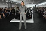 Gray was the standout color on the Ralph Lauren runway, setting a sober tone to the season