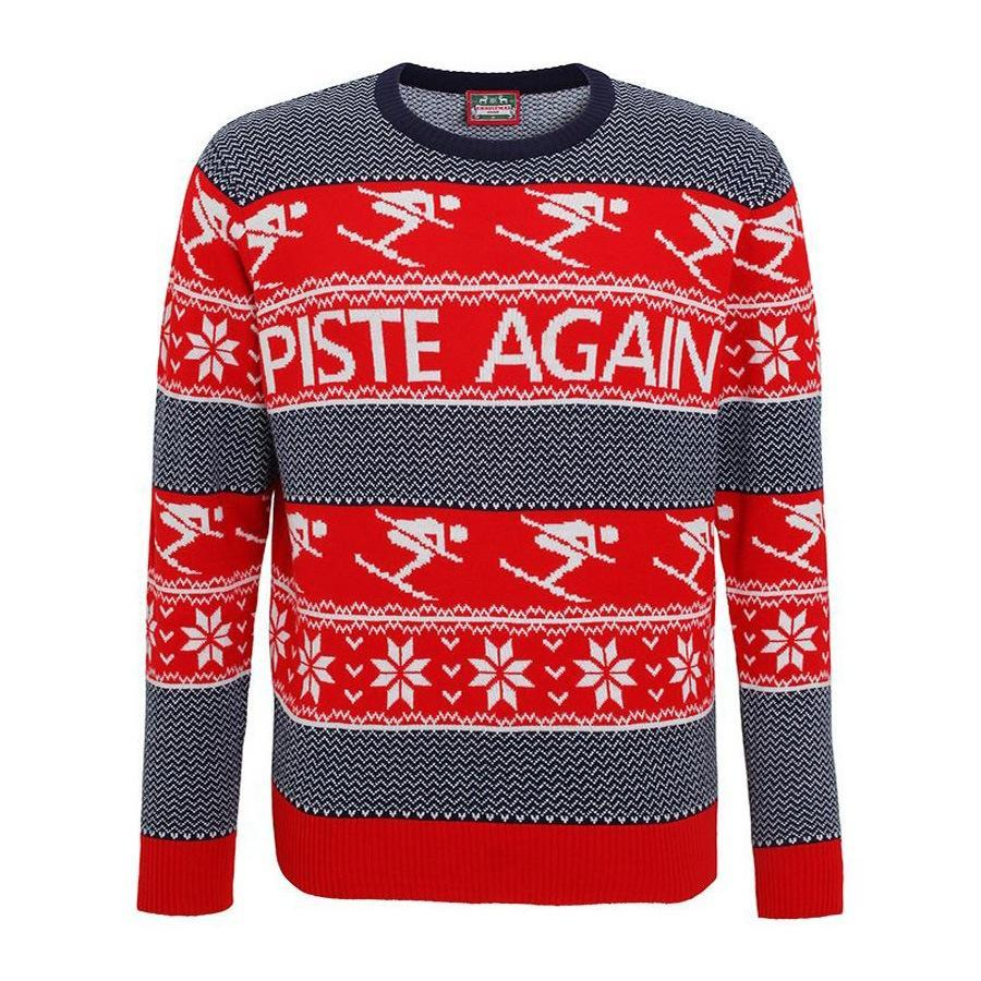 """<p>£19.99, <a href=""""http://www.cheesychristmasjumpers.com/product/piste-again-christmas-jumper"""" rel=""""nofollow noopener"""" target=""""_blank"""" data-ylk=""""slk:Cheesy Christmas Jumpers"""" class=""""link rapid-noclick-resp"""">Cheesy Christmas Jumpers</a></p>"""