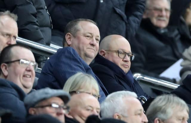 Mike Ashley was in attendance at St James' Park (Owen Humphreys/PA)